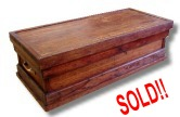 restored antique wooden toolbox for sale