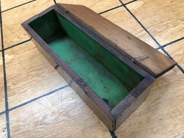 small antique storage box for wine bottle