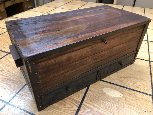 small antique hat trunk for sale