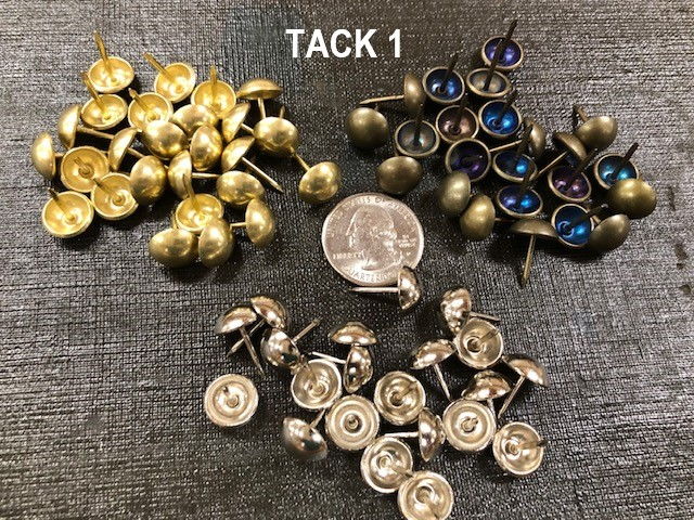 Upholstery tacks, several finishes available