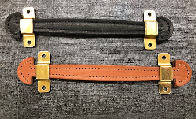 Small leather handles and hardware