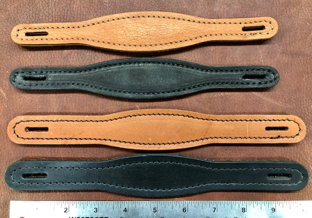 Leather suitcase handles