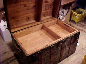 Replacement trays for antique steamer trunks