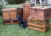 Wide variety of restored antique trunks for sale
