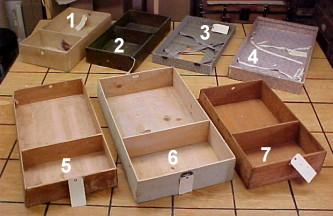 Antique trunk trays for sale
