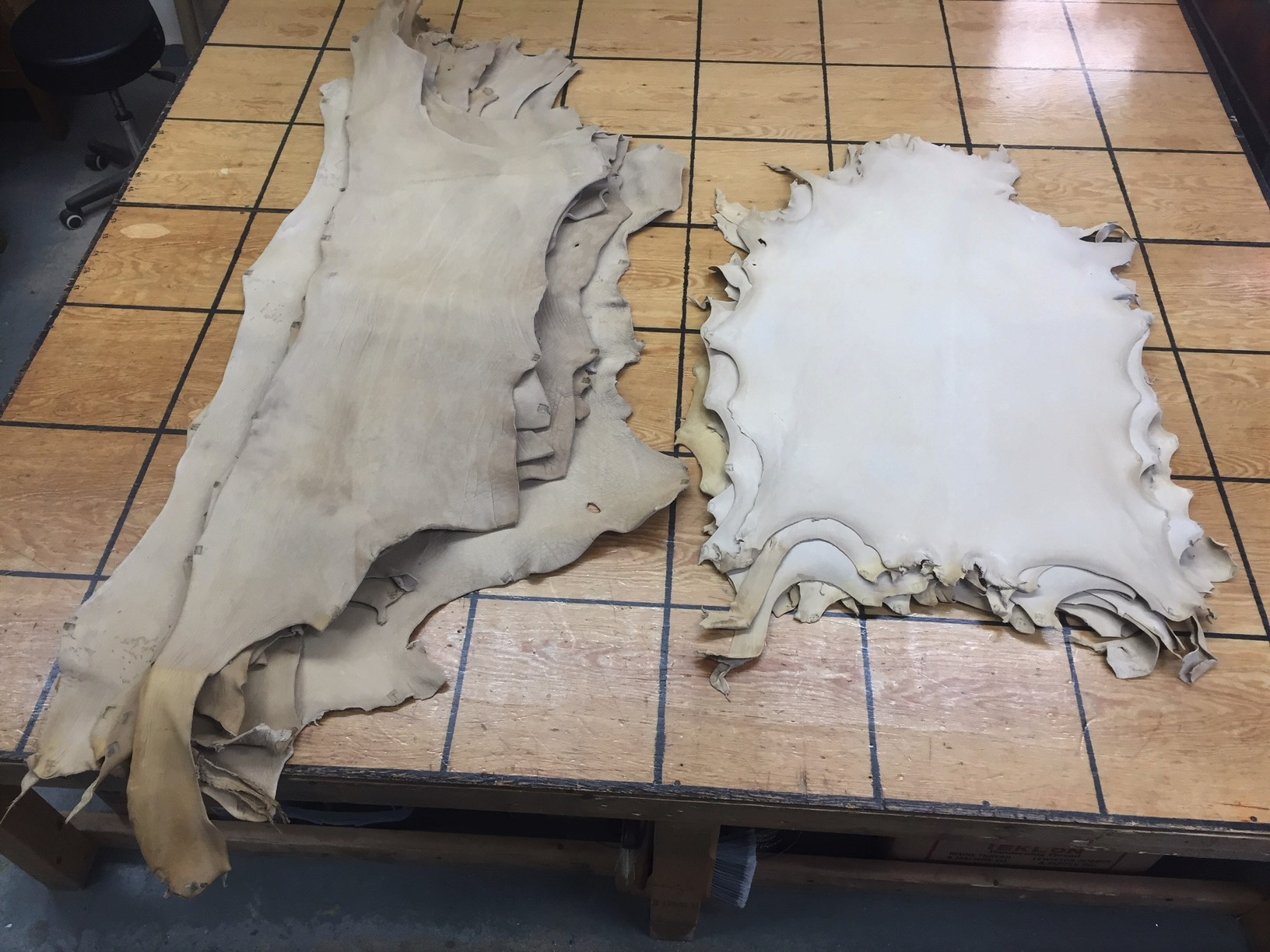 vegetable tanned buffalo leather hides for sale