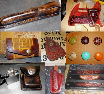 hand crafted leather goods for sale