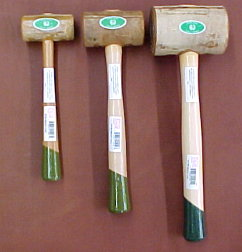 Weighted rawhide mallets for leather craft work