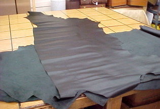 black waterproof leather hides for sale