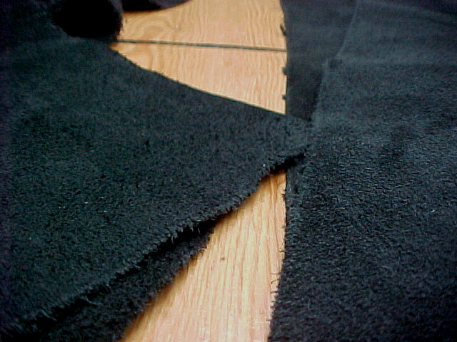 black soft suede leather hides for sale