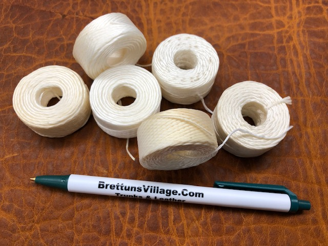 We sell waxed hand sewing thread for leather
