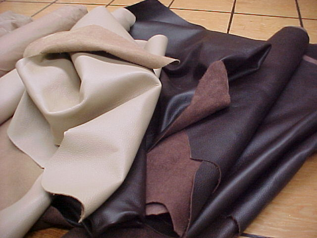 Natural looking leather hides for sale