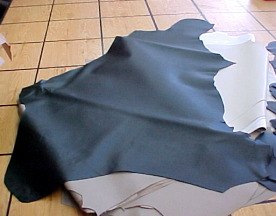 Thin cowhide leather panels for crafts