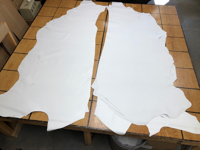 bright white leather hides for sale
