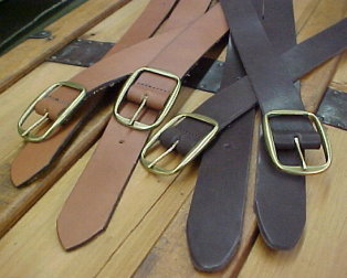Leather straps for antique trunks