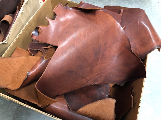 pull up leather scrap pieces for sale by the pound
