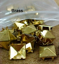 Half-Inch Aged Brass Pyramid Spots for Decorating Leather Craft or Fabric Projects