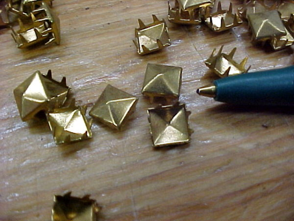 Smaller Brass Pyramid Spots for Leather Craft Projects