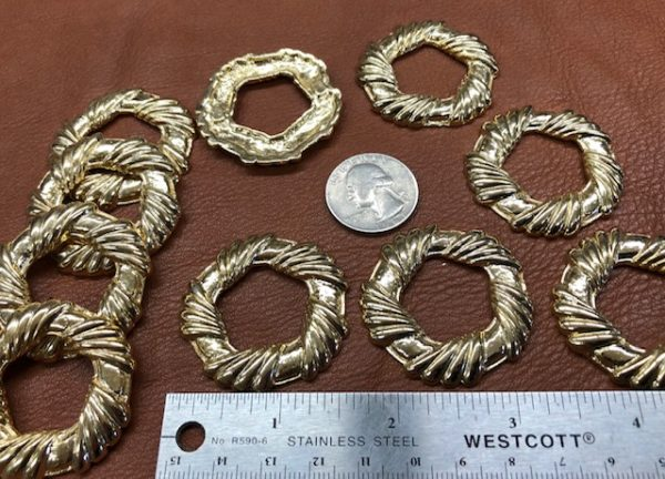Brass wreaths for craft decorations