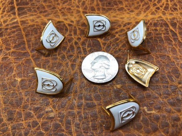 brass shield decorations for your leather projects