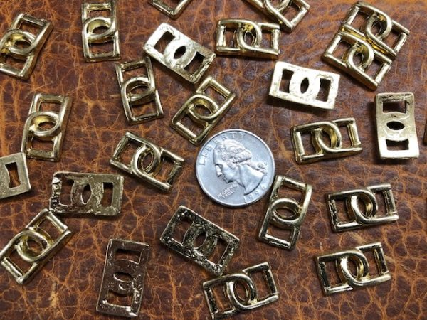 Small brass buckles