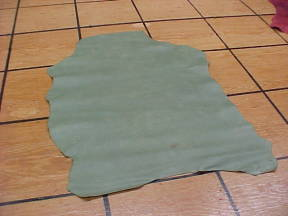 green sheep leather hides with snakeskin embossing
