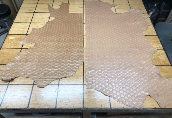 Geometric veg tan leather for sale