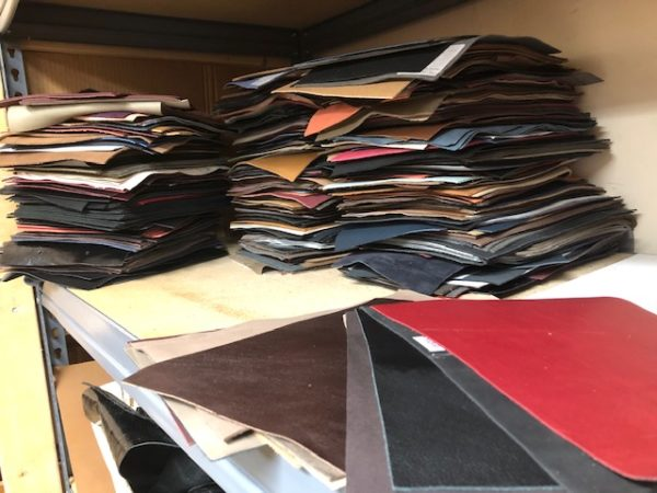 8 by 11 inch tannery sample swatches
