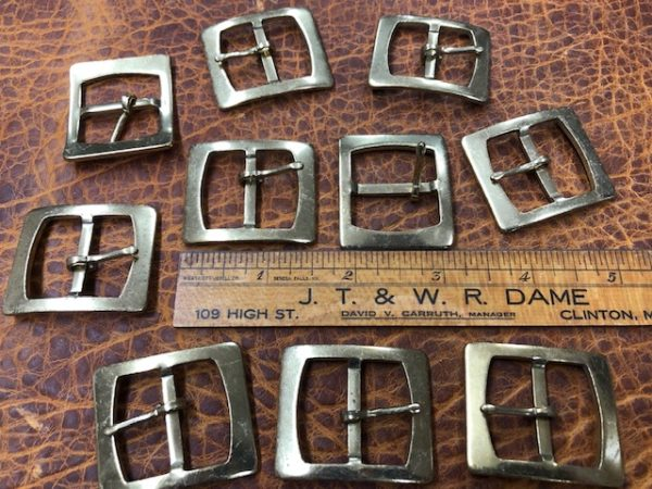 stamped brass buckles