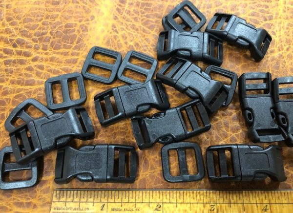 black buckles for narrow straps