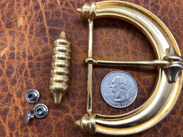 Large brass belt buckles