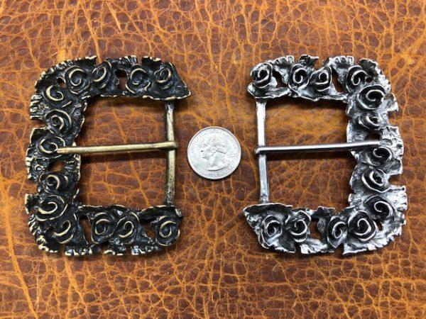 floral design belt buckles