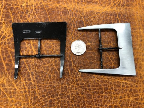 brushed nickel belt buckles