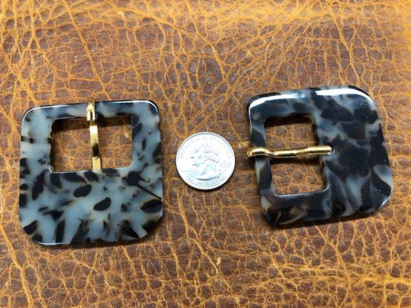 Imitation tortoise shell belt buckles