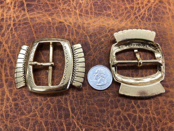 Aztec design belt buckles