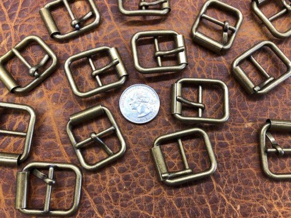 antique brass finish roller buckles