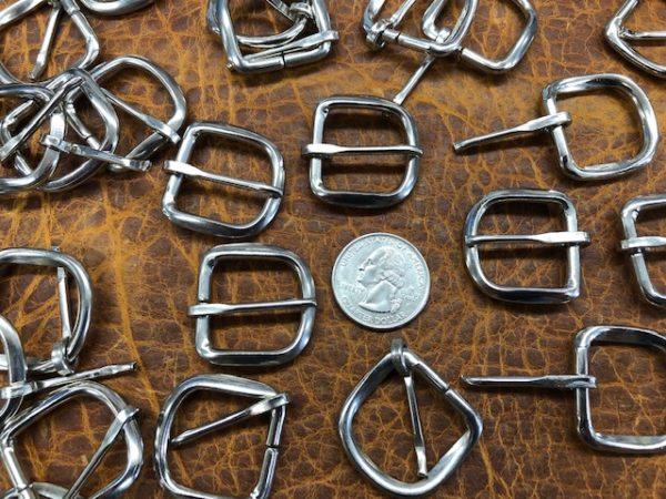 small nickel belt or strap buckles