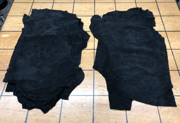 black suede leather hides for sale