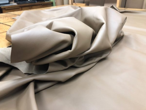 soft khaki leather hides