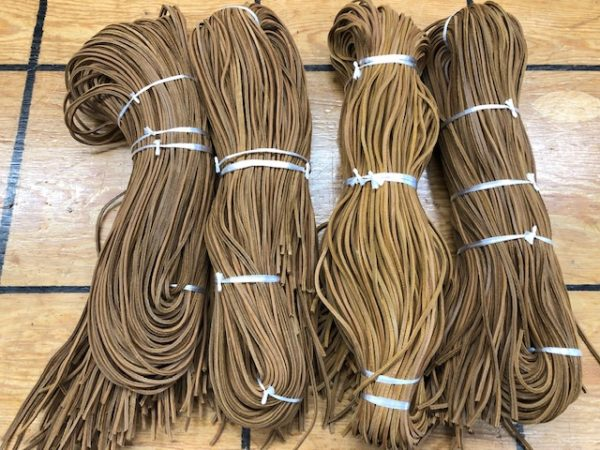 medium brown 6 foot leather laces for sale