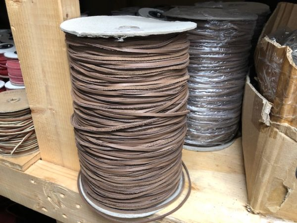 large spools of leather lacing for sale