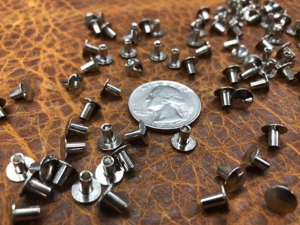 Nickel plated steel post rivets