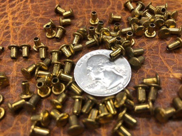 small brass tube rivets