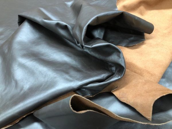 dark brown soft leather hides on sale