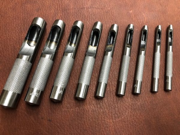 9 piece hole punch set for leather