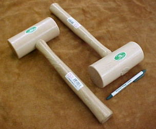 Wood mallets protect your tools