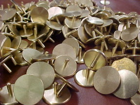 brass plated golf ball markers