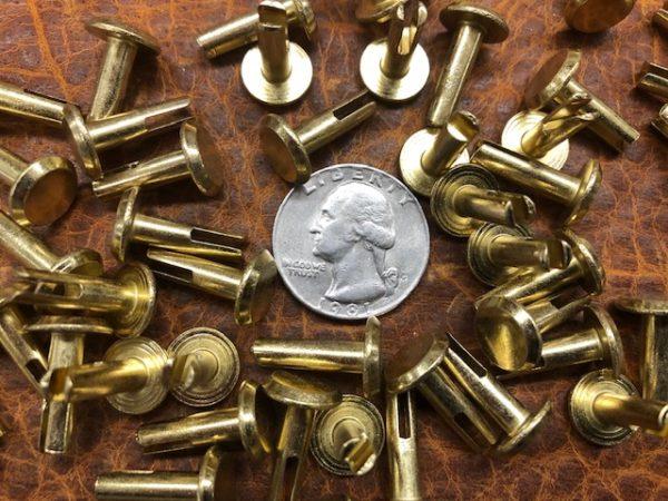 Brass plated split rivets for sale