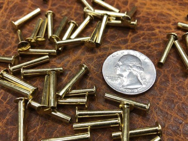 Long brass tubular rivets for sale