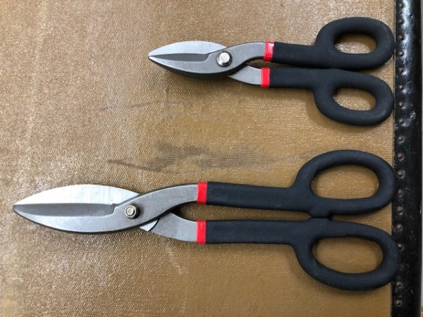 tin snips for trunk work